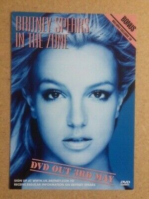 BRITNEY SPEARS Original Vintage Woolworths In The Zone Promotional Card / Flyer • 22£