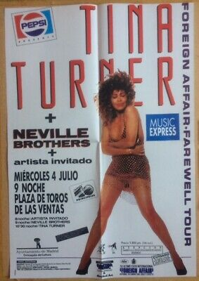 TINA TURNER Original Vintage Spanish Music Express Magazine Poster • 35£