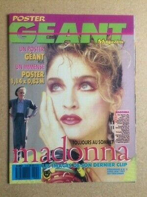 MADONNA Original Vintage French Poster Geant Magazine Postermag Avril-Mai 1987 • 90£