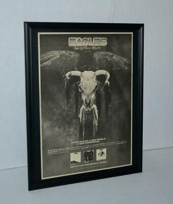 Eagles 1975 One Of These Night Lp And Tour Dates Promotional Framed Poster / Ad • 24.81£