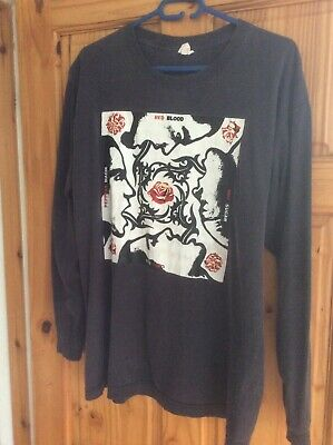 RED HOT CHILI PEPPERS Long Sleeve T-Shirt X/XL Vintage RARE • 150£