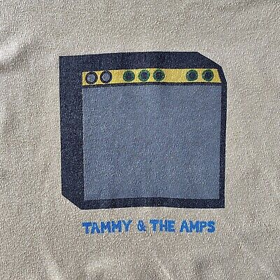 Vintage Band T Shirt TAMMY & THE AMPS 1995 ORIGINAL KIM DEAL PIXIES BREEDERS 4AD • 60£