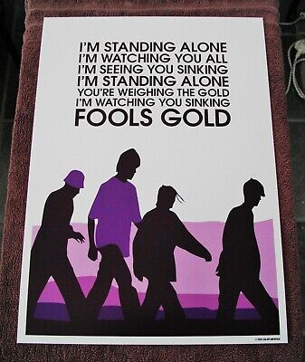 Stone Roses Fools Gold A3 Size Typography Art Print/poster  • 14.40£