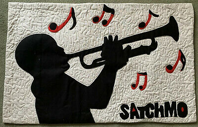 Louis Armstrong Satchmo Handmade Quilted Wallhanging • 15£