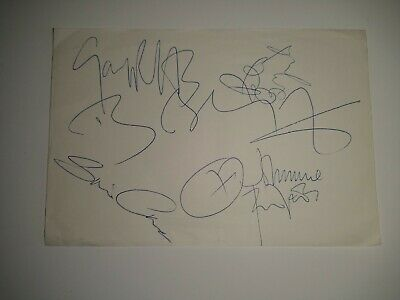 Boomtown Rats Signed Autograph Page Bob Geldof + 4 • 69£