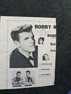 Del Shannon Signed Page From Tour Programme  • 59.99£