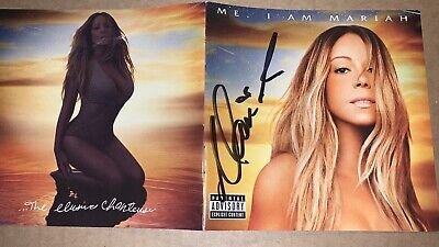 MARIAH CAREY OFFICIAL AUTOGRAPHED SIGNED ME ELUSIVE CHANTEUSE Deluxe CD Booklet • 60.04£