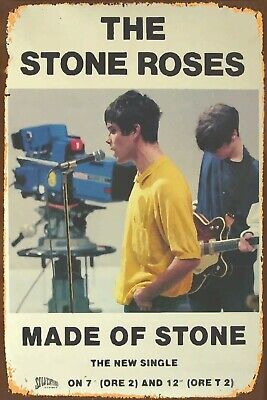 STONE ROSES AND LIAM GALLAGHER METAL SIGNS 20CM X 30CM OASIS IAN BROWN Hacienda • 5.99£