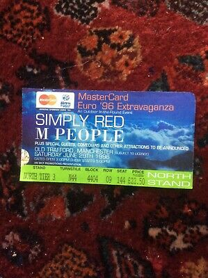 1996.  Simply Red  Euro 96. Extravaganza. June 29th.   • 2.99£