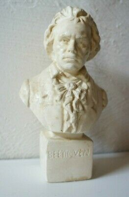 Vintage French BEETHOVEN Figure Bust Head Statue Classical Music France • 39.99£