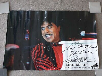 Little Richard Signed Poster 30 X 20 Inches  • 249.99£