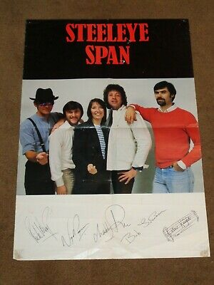 Steeleye Span 1984 UK Promo Poster (Hand Signed By All) • 30£