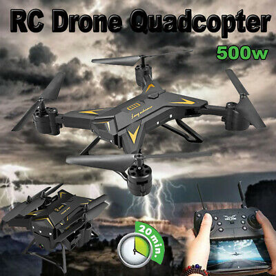 500W DRONE WITH CAMERA - FOLDABLE 2.4G 4-AXIS FPV RC Quadcopter WIFI HD • 32.98£