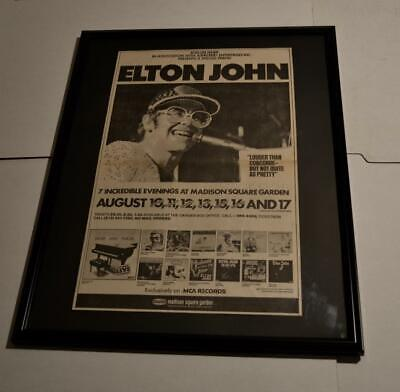 Elton John 1976 Ultra Rare Msg Ny 7 Night 1 / 1 Huge Framed Concerts Poster / Ad • 178.81£