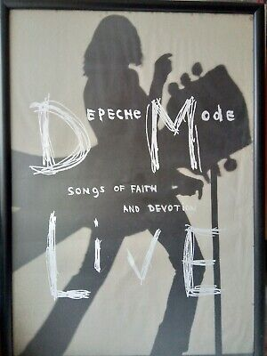 Depeche Mode SOFAD Live Devotional 1993 Vintage Poster Songs Faith Devotion • 80£