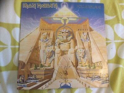 Iron Maiden Signed Lp And Tour Program (Powerslave 1984) • 99£