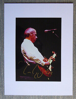 MARK KNOPFLER OF DIRE STRAITS Original Hand Signed Mounted Photo 11.1 X 8 Inches • 99.95£