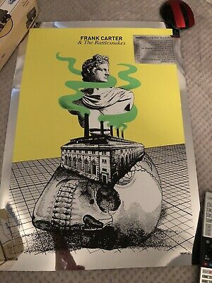 Frank Carter & The Rattlesnakes Tour Poster March 2017 Tour Mint • 29.99£