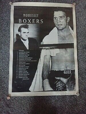 MORRISSEY Tour Poster  BOXERS  Rare? No Reserve!! • 34.99£