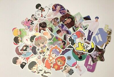 BTS STICKERS 40 Pieces Per Pack MULTI THEMED BANGTAN STICKERS NEW • 3£