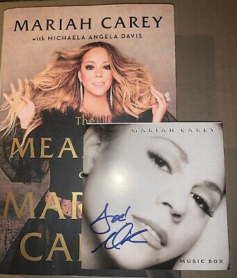 Mariah Carey The Meaning Of Hardcover Book & Signed Music Box Cd Bundle Rare • 37.52£