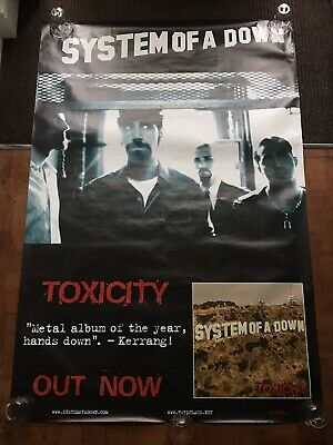 System Of A Down - Toxicity 2001 Giant Original Bus Stop Poster 1x1.5m Rare • 14.99£