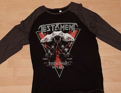 Testament Brother Hood Of The Snake 2018 European Baseball Jersey New Size L  • 6.99£