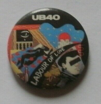 UB40 Labour Of Love 1  Pin Badge Reggae 2 Tone Red Red Wine • 2.49£