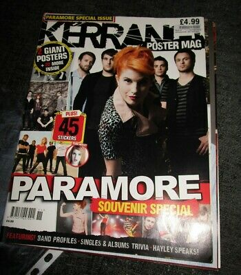 Kerrang Paramore Poster Mag With Giant Poster And Unused Sticker Sheet • 3.99£