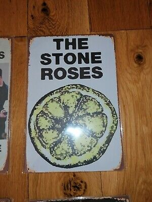 STONE ROSES METAL SIGNS 20CM X 30CM Like OASIS IAN BROWN Limited Edition • 12.99£