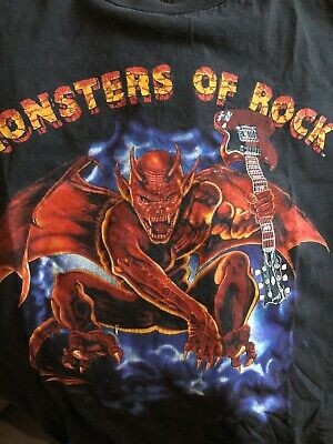 Monsters Of Rock Donington 1991 T-Shirt Size Large • 40£
