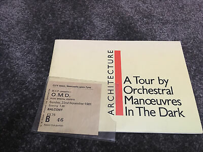 Orchestral Manoeuvres In The Dark Tour Programme + Ticket Stub OMD 1981 • 20£
