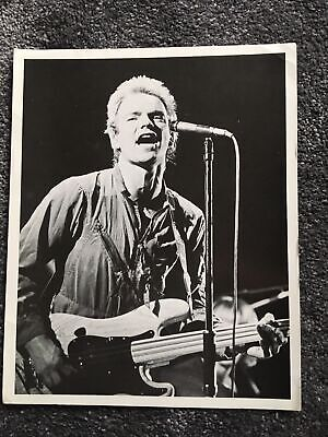"1977 10""x 8  Concert Photo Of Sting Of The Police • 5£"