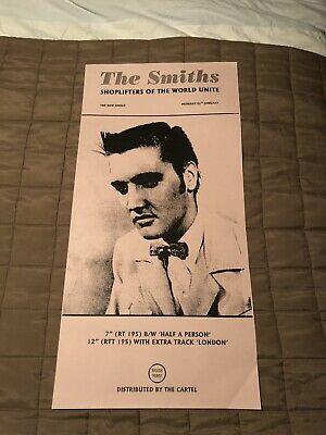 Rare Original 1987 The Smiths Shoplifters Of The World Unite Advertising Poster • 75£