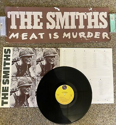 The Smiths Meat Is Murder US/Canadian PROMO PACK- BANNER & Gold Stamped Sleeve • 56£