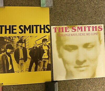 The Smiths Strangeways Here We Come PINK RHINO PROMO PACK- RARE Reissue Poster • 37£