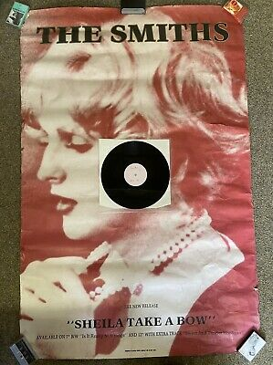 "The Smiths Sheila Take A Bow PROMO PACK - Subway Poster & White Label 12"" • 58£"