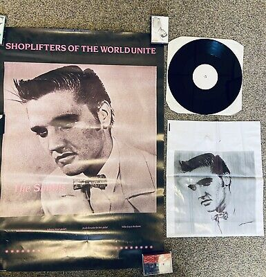 The Smiths Shoplifters Of The World Unite PROMO PACK Poster, Bag & White Label • 53£