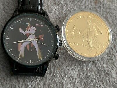 Elvis Presley  Watches With Elvis Coin New  • 15.99£