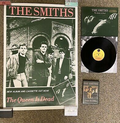 The Smiths The Queen Is Dead US/UK PROMO PACK Poster, Gold Stamp & DVD • 23£