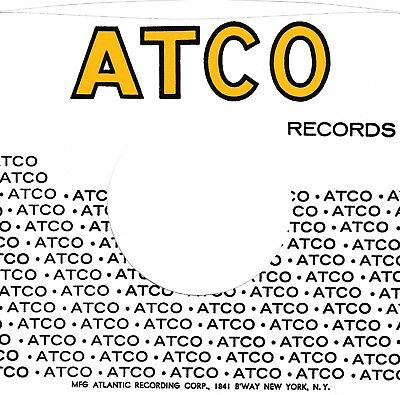 ATCO Company Reproduction Record Sleeves - Deep Yellow And Black,   (pack Of 15) • 7.95£