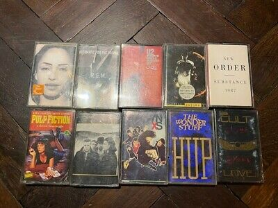 10 Music Cassette Tapes From Around 90's • 25£