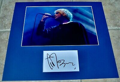 """Tim Burgess Signed Card Mounted With 12""""x8"""" Colour Photo The Charlatans With COA • 24.99£"""