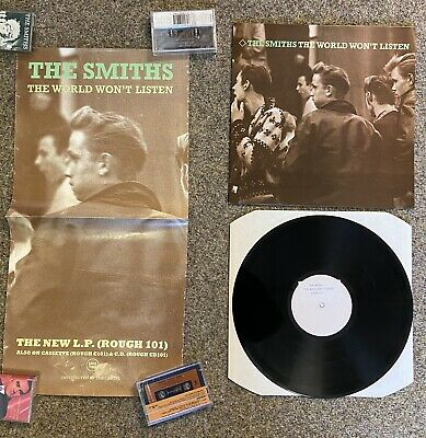 The Smiths The World Won't Listen PROMO PACK- White Label LP & Promo Poster • 69.67£