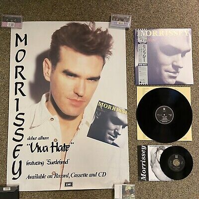 """Morrissey Viva Hate PROMO PACK- LP With 7"""" & Japnaese Promotional Poster RARE • 96£"""