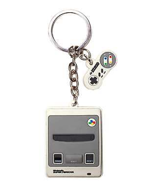 Nintendo Keyring Keychain SNES Console 3D Rubber New Official Grey • 9.95£