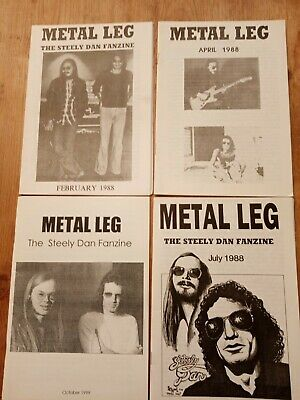 4 X STEELY DAN FANZINE. METAL LEG. GOOD. • 14.99£