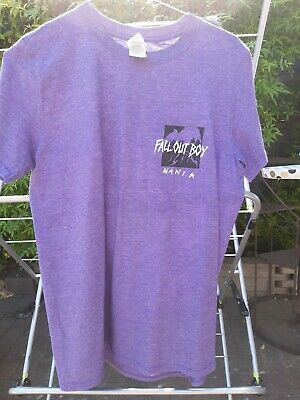 Fall Out Boy T Shirt Genuine Merchandise Fit Age 12 -14 Purple  • 8£