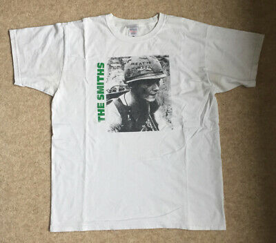 The Smiths Morrissey T-Shirt Meat Is Murder White  LARGE Cotton • 3.99£