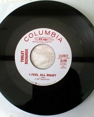 Turley Richards - I Feel All Right. New 7 . Northern Soul • 39.99£